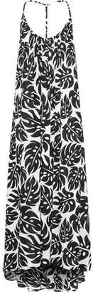 Mikoh Hamptons Open-back Printed Voile Maxi Dress
