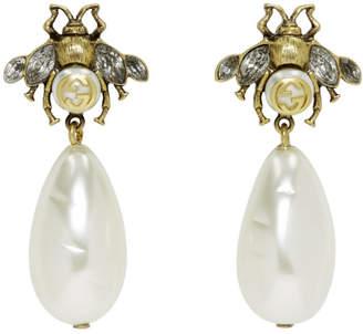 Gucci Gold Bee Earrings