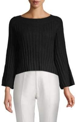 J.o.a. Croopped Ribbed Sweater