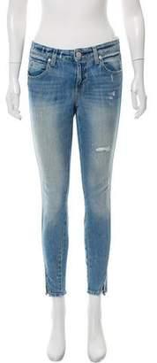 Amo Mid-Rise Split Hem Jeans