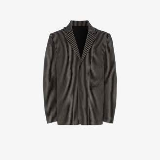 Ann Demeulemeester Single-Breasted Striped Blazer