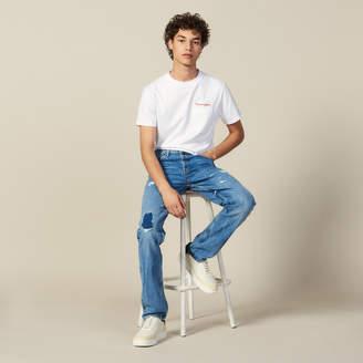 Sandro Destroyed Cotton Slim-Fit Jeans