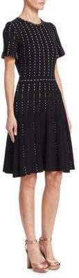 Oscar de la Renta Short-Sleeve Knit Dress