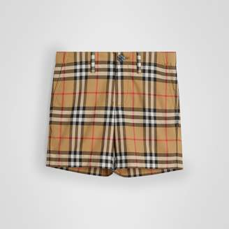 Burberry Vintage Check Cotton Tailored Shorts , Size: 10Y