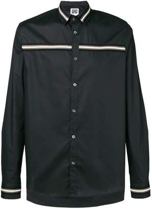 Les Hommes Urban stripe detail classic shirt