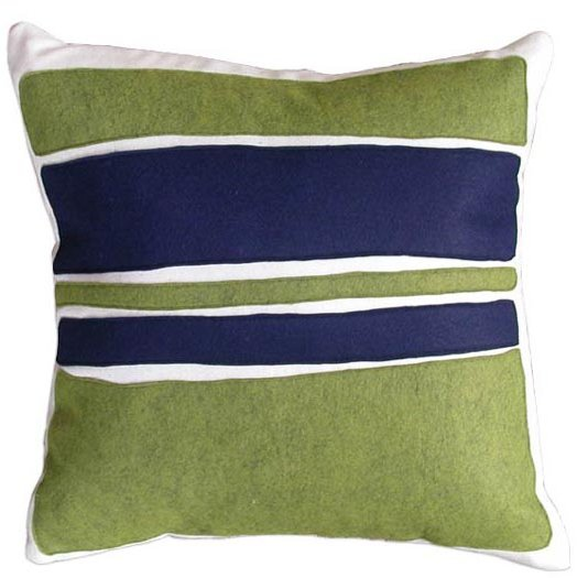 Balanced Design - Flannel/Felt Color Block Pillow