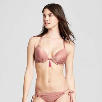 17fd96ce88e Shade & Shore Women's Shore Light Lift Strappy Metallic Bikini Top - Shade  & Shore Rose