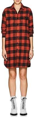 VIS A VIS Women's Buffalo-Checked Cotton Flannel Shirtdress