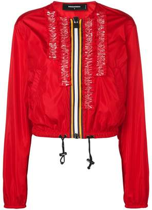 DSQUARED2 zipped bomber jacket