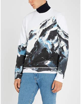 HUGO Mountain-print stretch-cotton sweatshirt