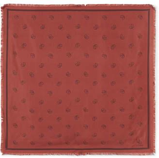 Chloé Paisley-print Silk-twill Scarf - Red