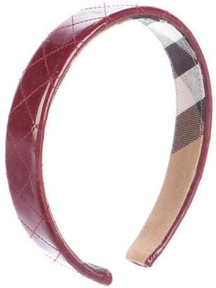 Burberry Patent Leather Headband
