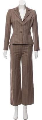 Valentino Herringbone Wool-Cashmere Pantsuit