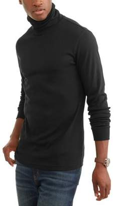 George Men's Long Sleeve Turtle Neck, Up to Size 5XL