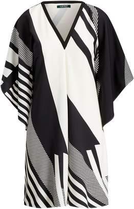 Ralph Lauren Print Crepe Shift Dress