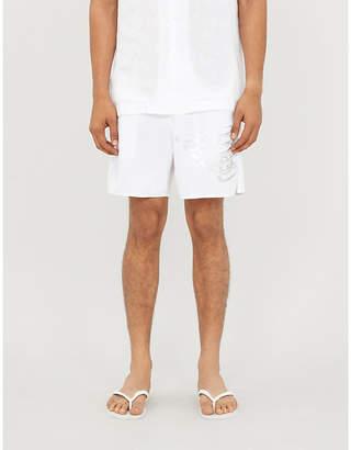 Eagle-print swim shorts