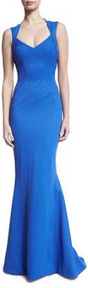 Zac Posen Ottoman Jersey Fishtail Gown, Blue $2,590 thestylecure.com