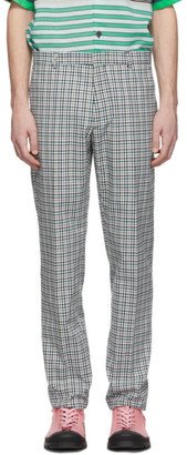 Joseph White and Blue Bowling Check Ernest Trousers