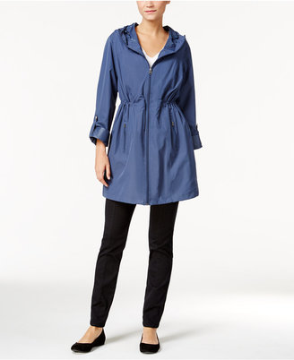 Style & Co. Hooded Rain Coat, Only at Macy's $69.50 thestylecure.com