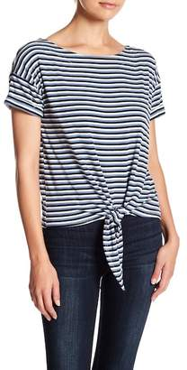 Socialite Tie Front Ribbed Tee