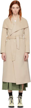 Mackage Tan Wool Mai Wrap Coat