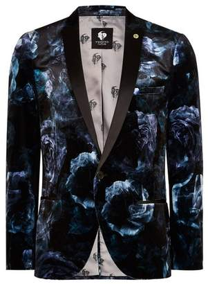 Topman Mens TWISTED TAILOR Blue Floral 'Highway' Blazer