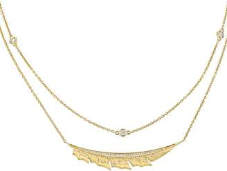 Stephen Webster Yellow Gold Magnipheasant Pave Diamond Split Necklace