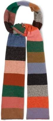 The Elder Statesman Super Duper Striped Cashmere Scarf - Womens - Multi