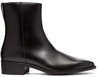 Stella McCartney Faux Leather Ankle Boots - Mens - Black