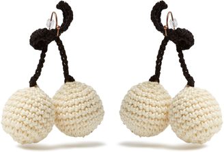 Cherries crochet earrings