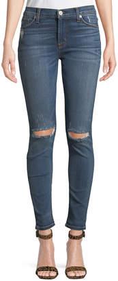 Hudson Nico Faded Distressed Super Skinny Jeans
