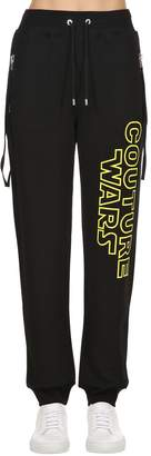 Moschino Couture Wars Printed Cotton Sweatpants