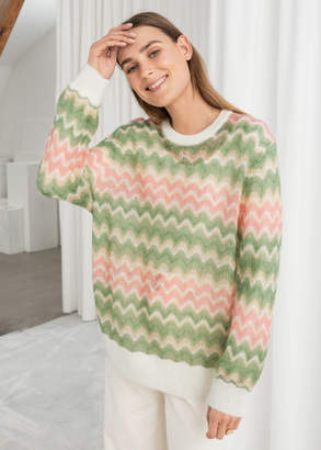68a89203f And other stories Zig Zag Wool Blend Sweater