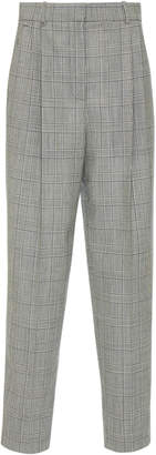 Givenchy Prince of Wales Check Straight-Leg Wool Pants