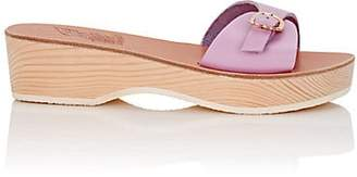 Ancient Greek Sandals Women's Filia Sabot Leather Sandals - Lilac