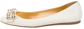 Kate SpadeKate Spade New York Leather Bow-Embellished Flats