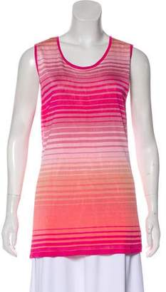 Magaschoni Striped Sleeveless Top