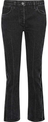 The Row Ashland Cropped Mid-rise Straight-leg Jeans - Charcoal