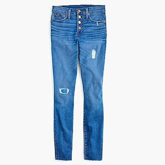 """J.Crew 9"""" High-Rise Toothpick Jean With Exposed Buttons And Cut Hems"""