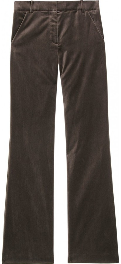 3.1 Phillip Lim SKINNY FLARED VELVET TROUSERS