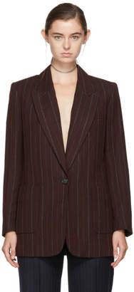 Isabel Marant Burgundy Striped Kern Suit Blazer