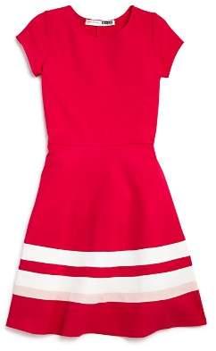 Aqua Girls' Solid & Striped Dress, Big Kid - 100% Exclusive