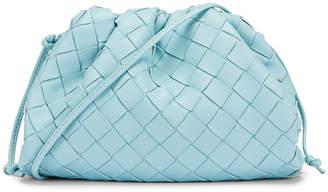 Bottega Veneta Leather The Pouch 20 Clutch Bag in Topazio & Silver   FWRD