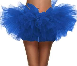Simplicity Women's Adult 5 Layered Tulle Mini Tutu Skirt