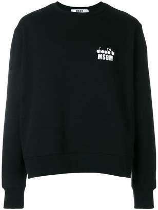 MSGM X Diadora crew neck sweatshirt