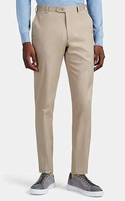 Brioni Men's Cotton Flat-Front Chinos - Beige, Tan