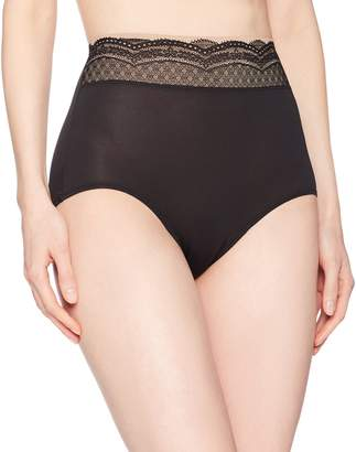 Warner's Warners Women's No Pinching No Problem Microfiber with Lace Brief Panty
