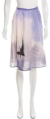 agnès b. Patterned Woven Skirt