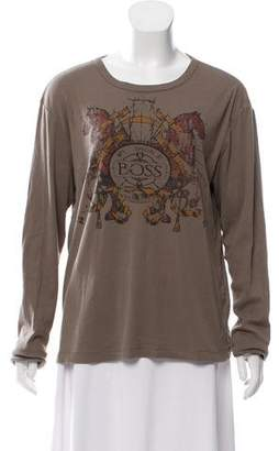 HUGO BOSS Boss by Graphic Printed Casual Top
