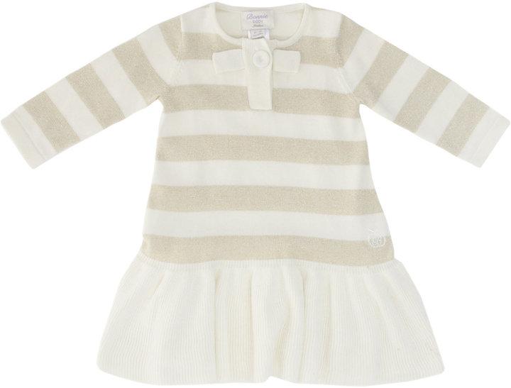 Bonnie Baby Sparkle Bow Dress with Frill Skirt